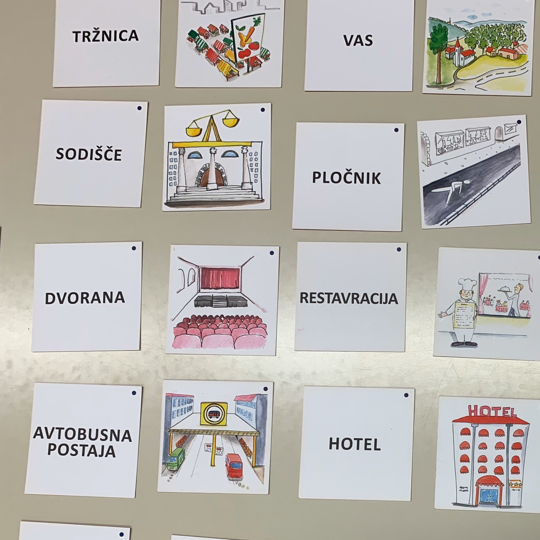 Slovenian flash cards