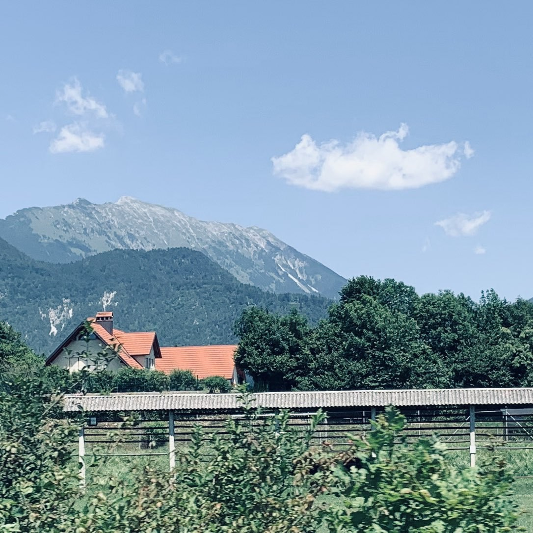 The view at the Lesce-Bled train station.