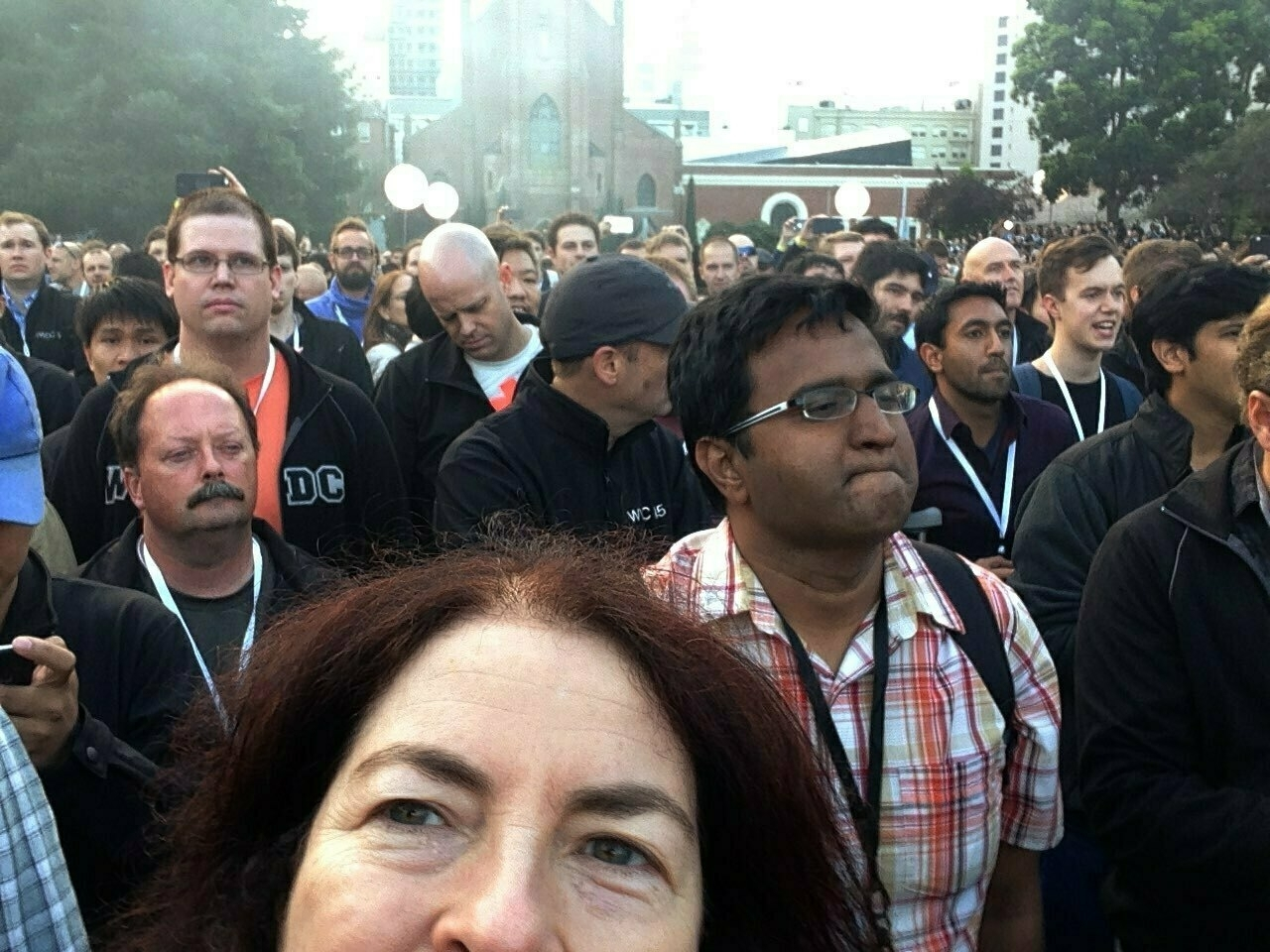 Me and a large crowd of software developers.