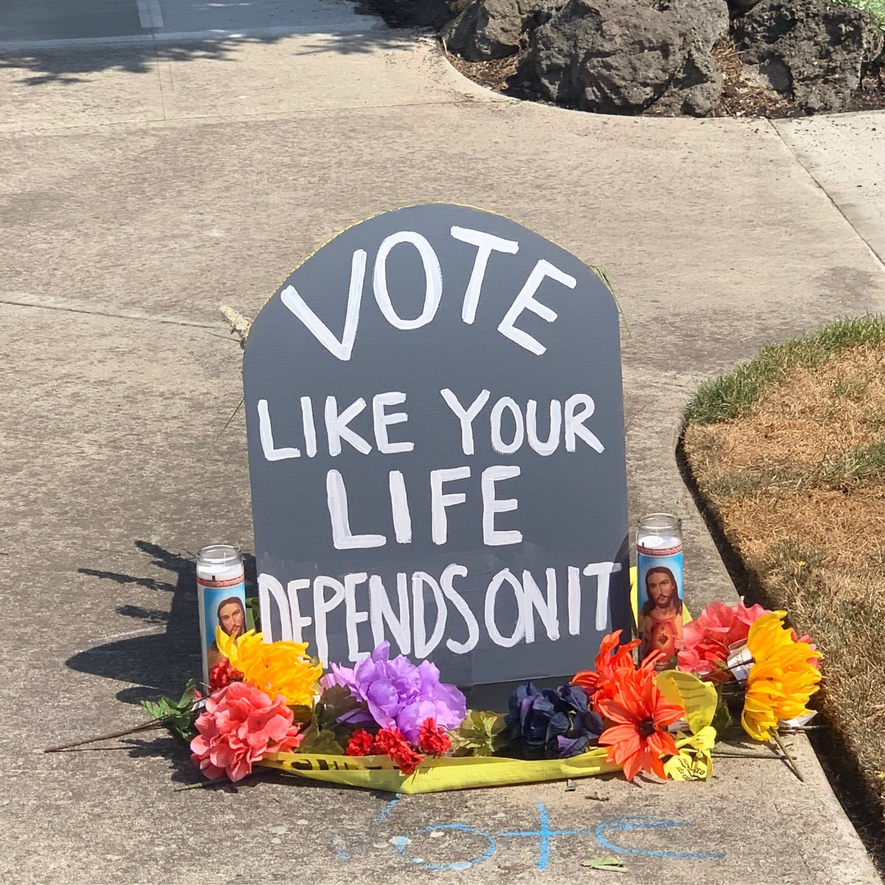 mock headstone. Vote as if your life depends on it.