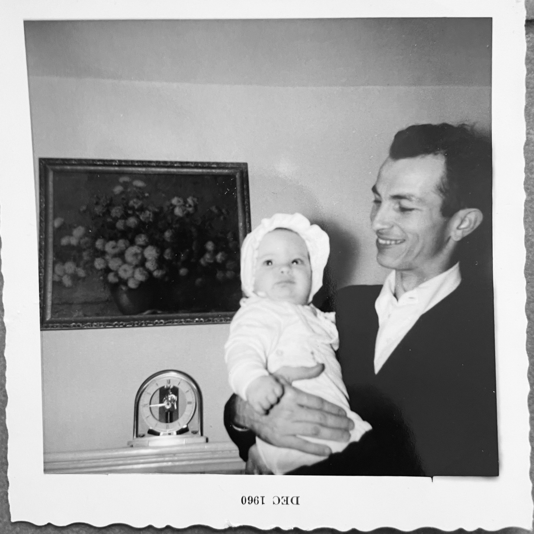 me at 6 months old with my dad in 1960