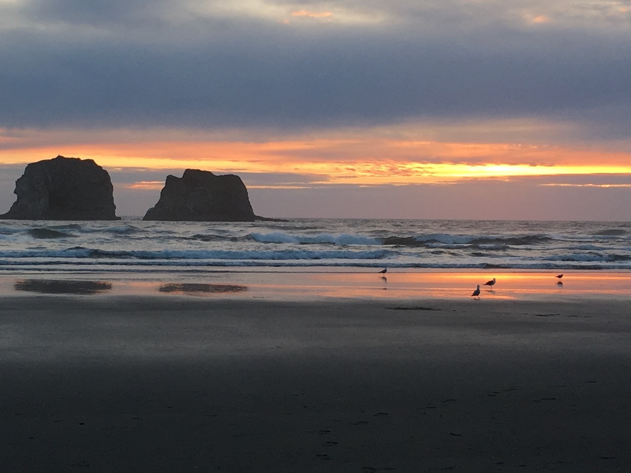Sunset at Twin Rocks, Oregon